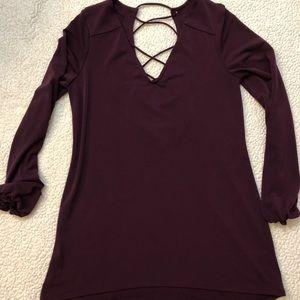Express burgundy top